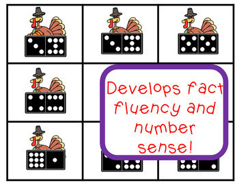 Math Fact Fluency & Number Sense! Turkey Theme