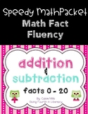 Math Fact Fluency Packet - Addition and Subtraction -  Numbers 0 - 20
