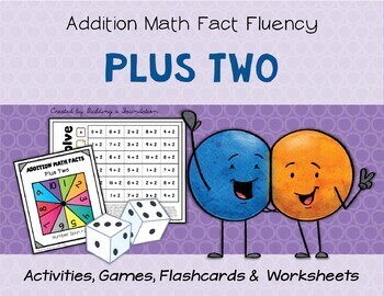 Addition Math Fact Fluency: Plus Two (+2)
