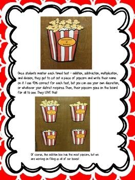 Math Fact Fluency Posters