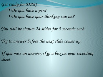 Math Fact Fluency Practice-DPR 7