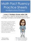 Math Fact Fluency Practice Sheets (Multiplication AND Division)