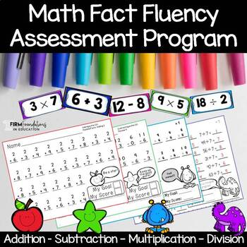 Math Fact Fluency Assessments- Addition, Subtraction, Multiplication, Division