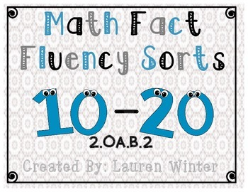 Math Fact Fluency Sorts: 2.OA.B.2.