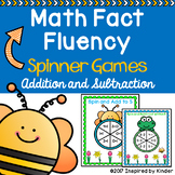 Spring Math Fact Fluency {Spinner Game}