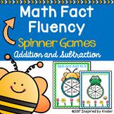 Spring Math Fact Fluency {Spinner Game}