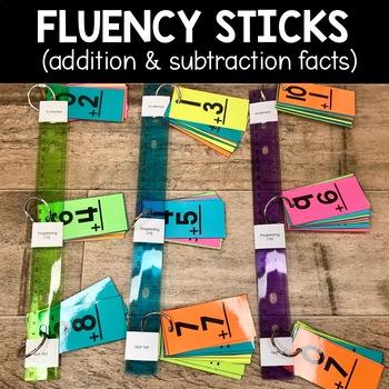 Math Fact Fluency Sticks | Math Fact Fluency Practice - Addition & Subtraction