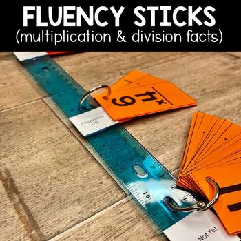Math Fact Fluency Sticks | Math Fact Fluency Practice -Multiplication & Division