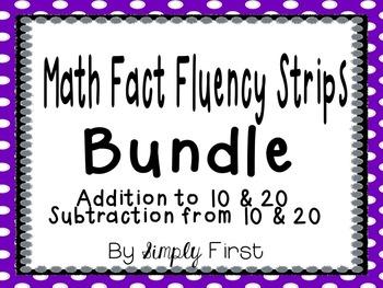 Math Fact Fluency Pack (Addition & Subtraction 0-20) *Bundle*