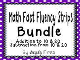Math Fact Fluency Pack (Addition & Subtraction 0-20) *Bundle*
