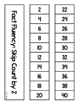Math Fact Fluency Strips Skip Counting by 2 and 5