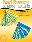 Math Fact Fluency Strips Ten More Than Ten Less Than
