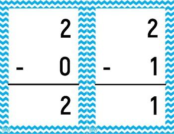 Math Fact Fluency - Subtraction