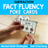 Math Fact Fluency Subtraction Poke Cards - Super Hero Theme