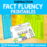Math Fact Fluency Subtraction Printables - Super Hero Theme