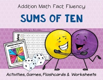 Addition Math Fact Fluency: Sums of 10