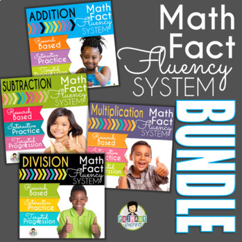 Math Fact Fluency System *All Operations Bundle