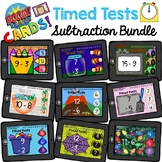 Math Fact Fluency Timed Test Subtraction Boom Cards