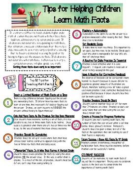 Math Fact Fluency Tips for Parents