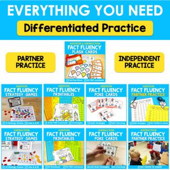 Math Fact Fluency Addition and Subtraction Program BUNDLE