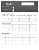 Math Fact Fluency Tracker