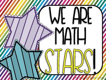 Math Fact Fluency Wall Tracker
