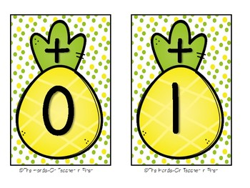 Math Fact Fluency Wall Tracker Pineapple Themed: Color or B/W