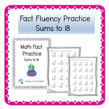 math fact fluency worksheets  sums to  by i dream of first grade math fact fluency worksheets  sums to