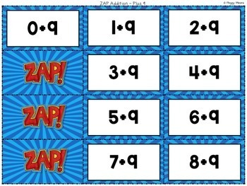 Math Fact Fluency {ZAP Addition Games}