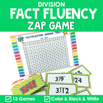 Math Fact Fluency {ZAP Division Games}