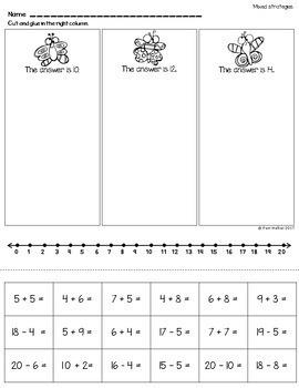 Math Fact Fluency for Ending First Grade