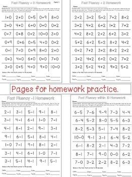 Math Fact Fluency for Kindergarten and First Grade