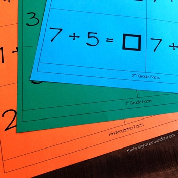 Math Facts Task Cards {Addition and Subtraction}