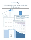 Math Fact Fluency with Sensory Integration for Subtraction