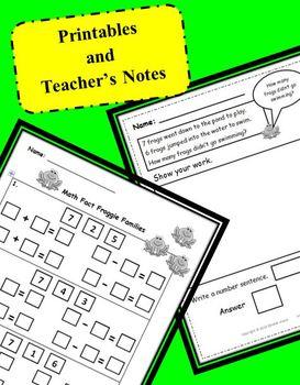 Math Fact Froggie Bundle: Smartboard, Printables, Game Board, and Task Cards