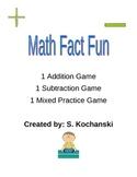 Math Fact Fun - 3 Independent Math Games