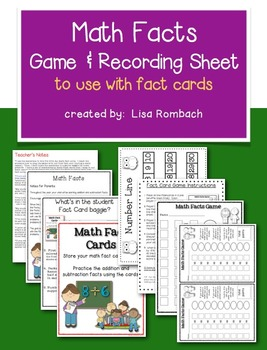 Math Facts Game & Recording Sheet FREEBIE
