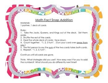 Math Fact Games