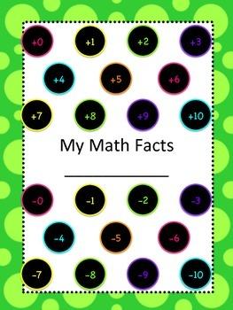 Math Fact Goals