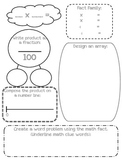 Math Fact Graphic Organizers