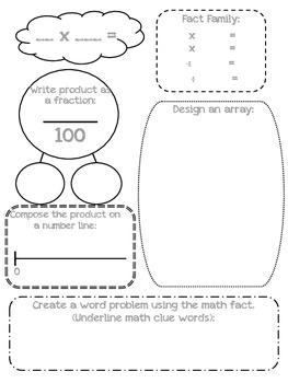 Math Fact Graphic Organizers