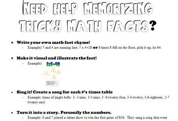 Math Fact Help