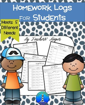 Math and Reading Homework Logs for Students