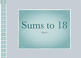 Math Fact Keynote: Sums to 18 Mixed