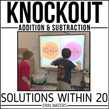 Math Fact Game | Addition & Subtraction Within 20 | KNOCKOUT | Distance Learning