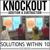 Addition and Subtraction to 10 Math Game : Fact Knockout