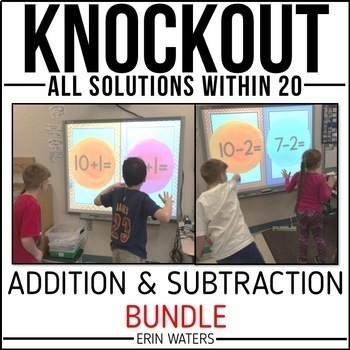Math Fact Knockout BUNDLE | All Facts Within 20 | Distance Learning