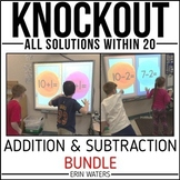 Math Fact Knockout BUNDLE | All Facts Within 20 | Distance