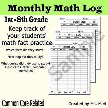 Math Fact Log