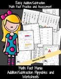 Addition and Subtraction Worksheets for Kindergarten
